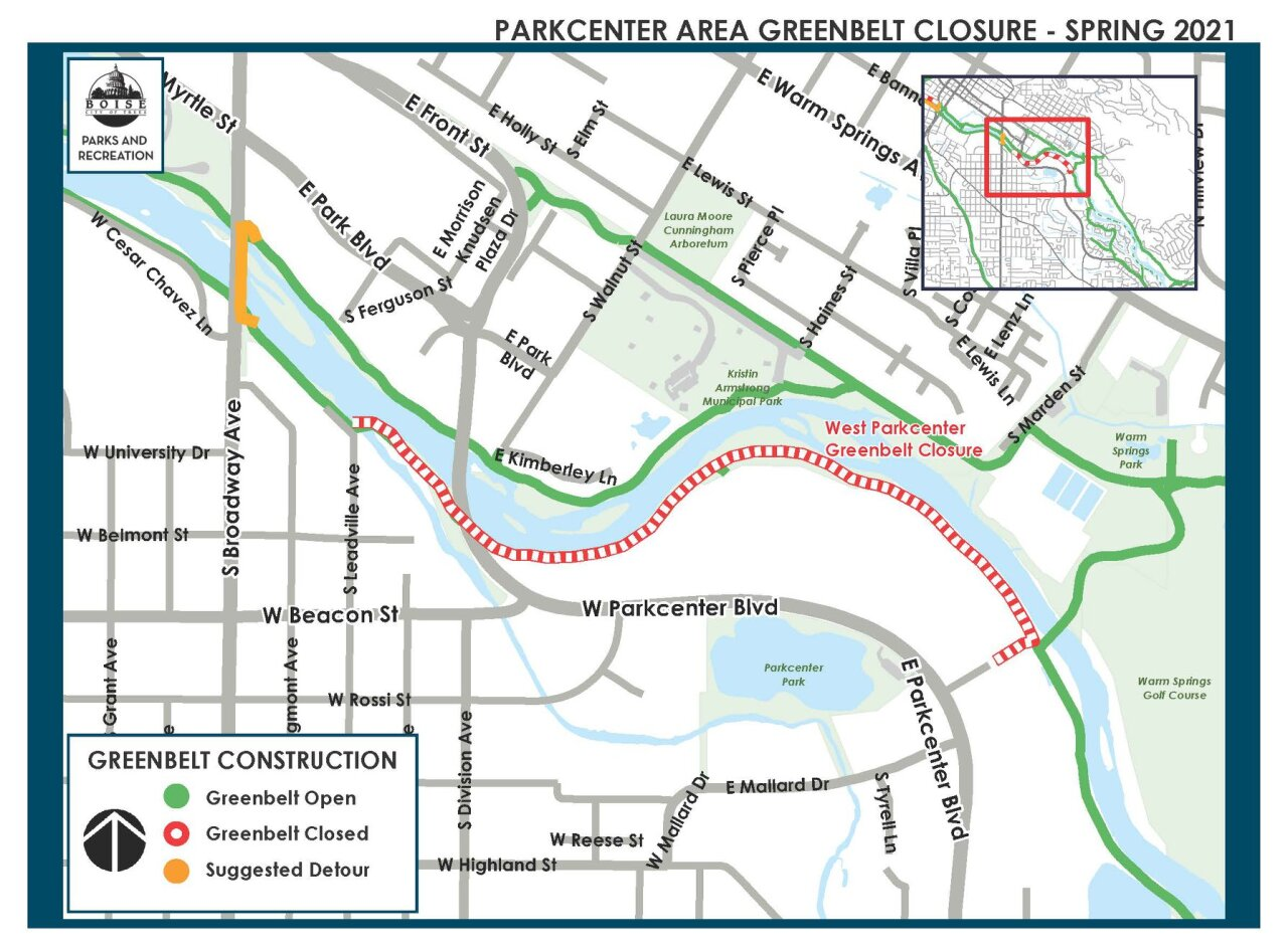 Parkcenter Area Greenbelt Closure 2021