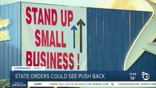 Stand Up Small Business sign