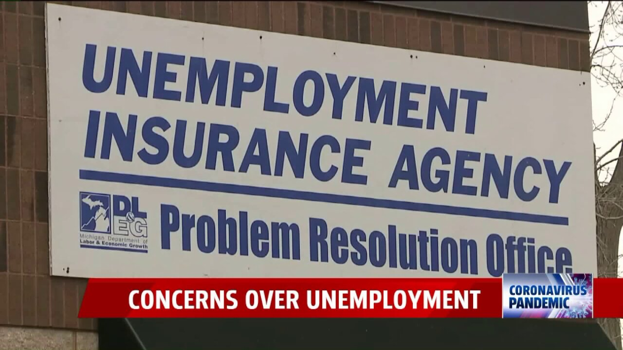 Michigan unemployment agency sign