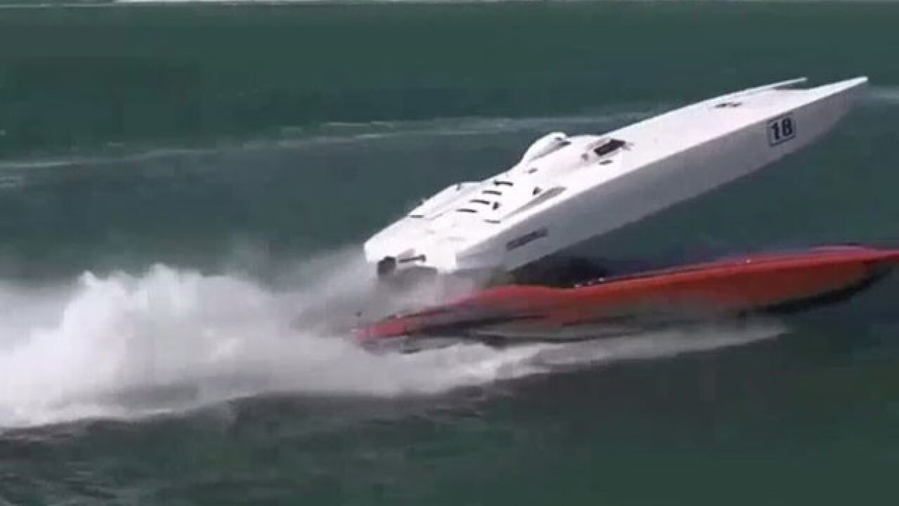 Powerboats crash during Key West World Championship boat race