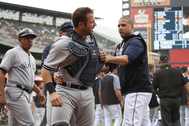 Photos: Bench-clearing brawl with Tigers and Yankees at Comerica Park