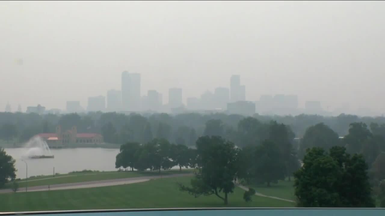 Sunday Aug 8 2021 smoke over Denver