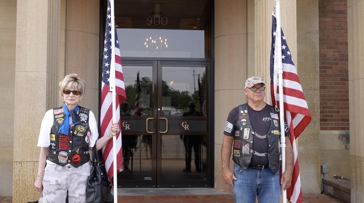 The Patriot Guard Riders were in attendance