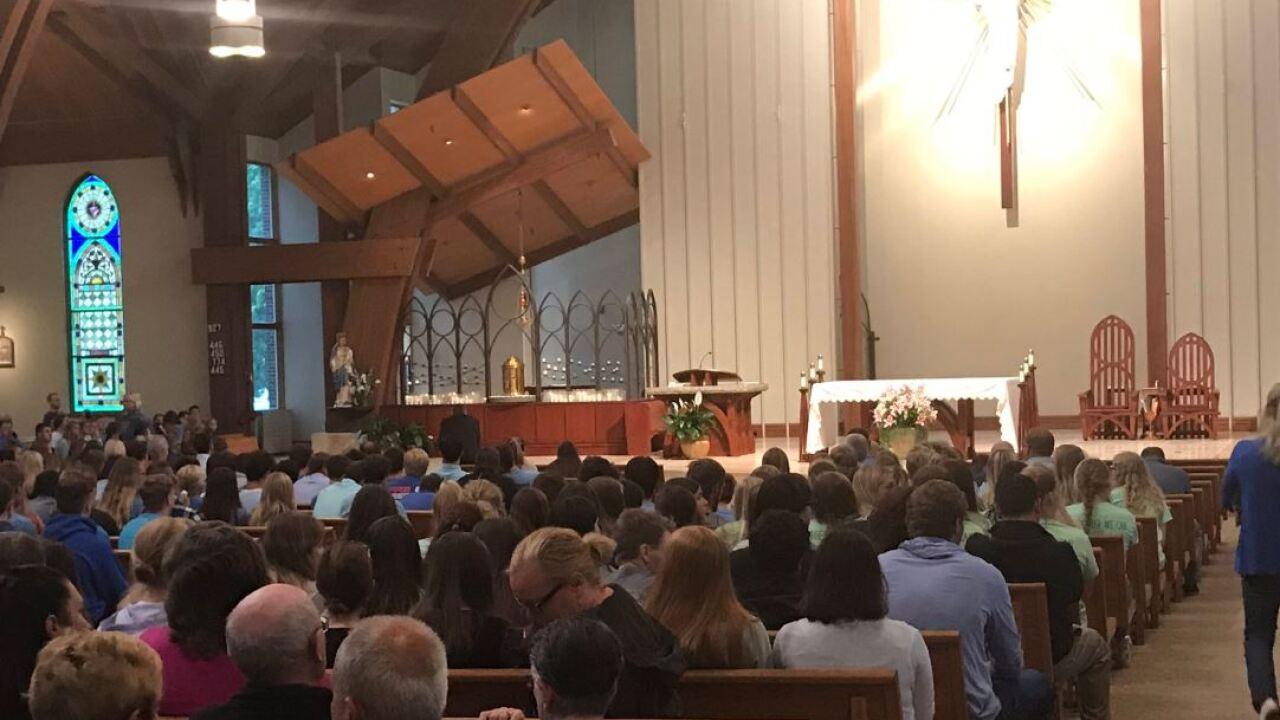 gretna church service prayer teen girls killed crash