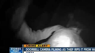 VIsta thief targets Ring doorbell camera