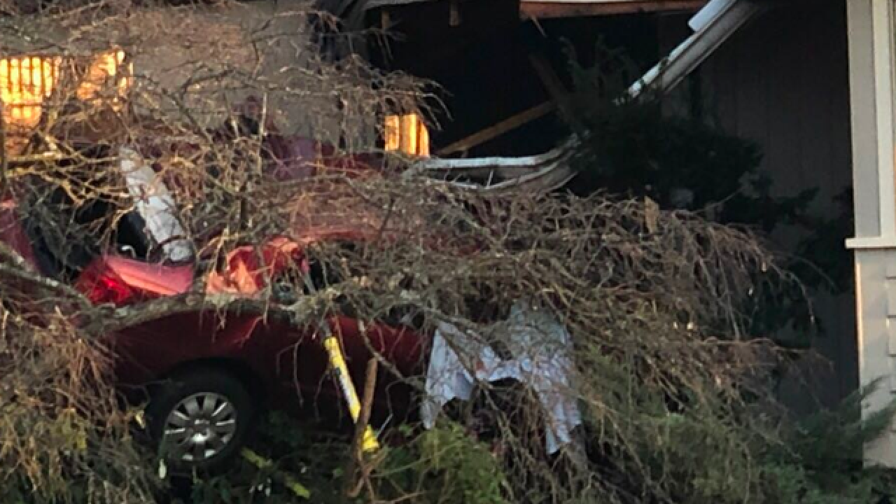 Driver dead after crashing into Mariemont home