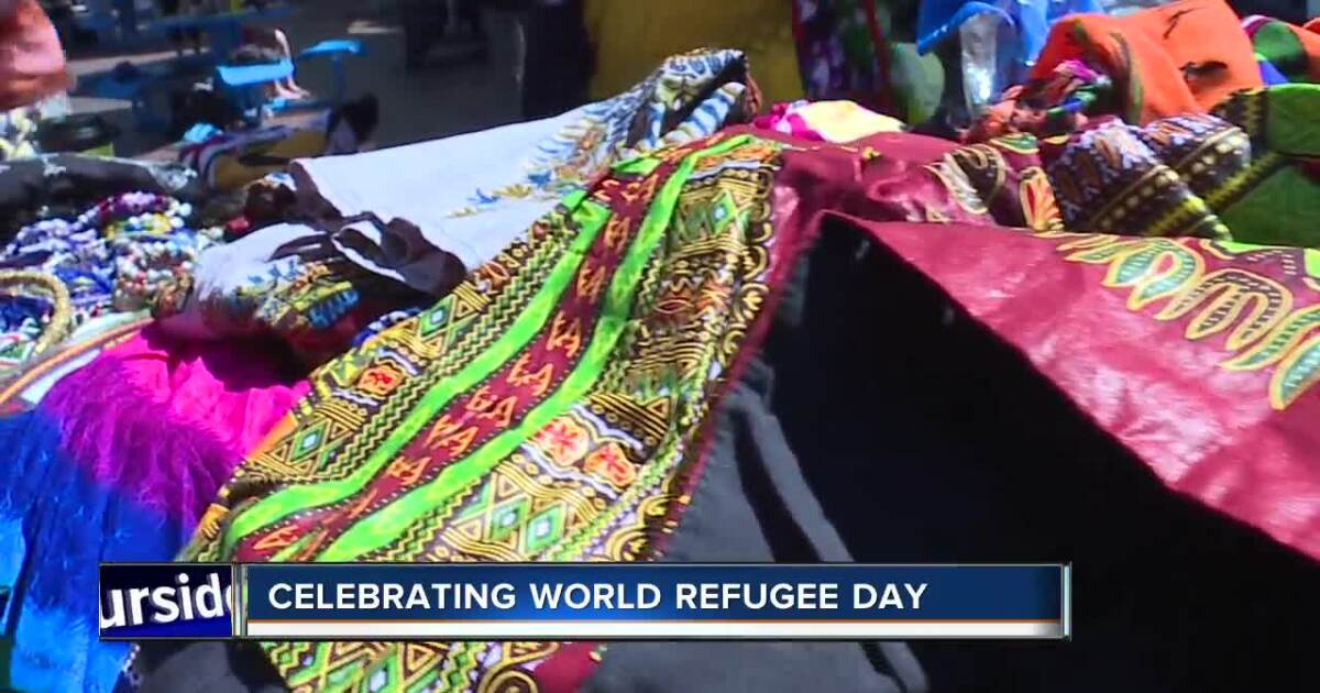 Community members gather for World Refugee Day