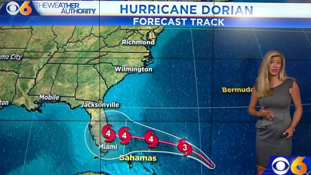 Hurricane Dorian – days away from Florida – could be monster storm bylandfall
