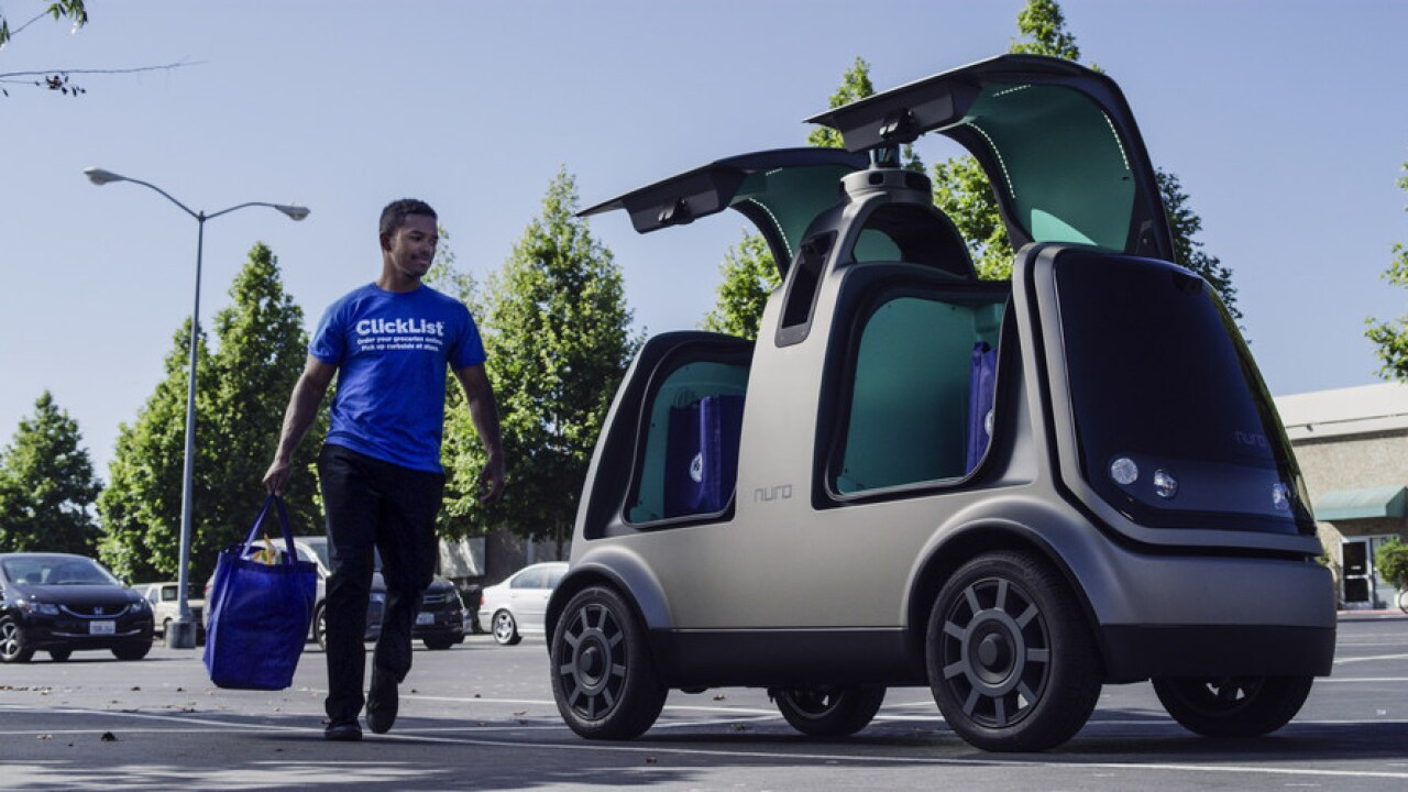 Kroger and Nuro Launch First-Ever Unmanned Delivery Service.