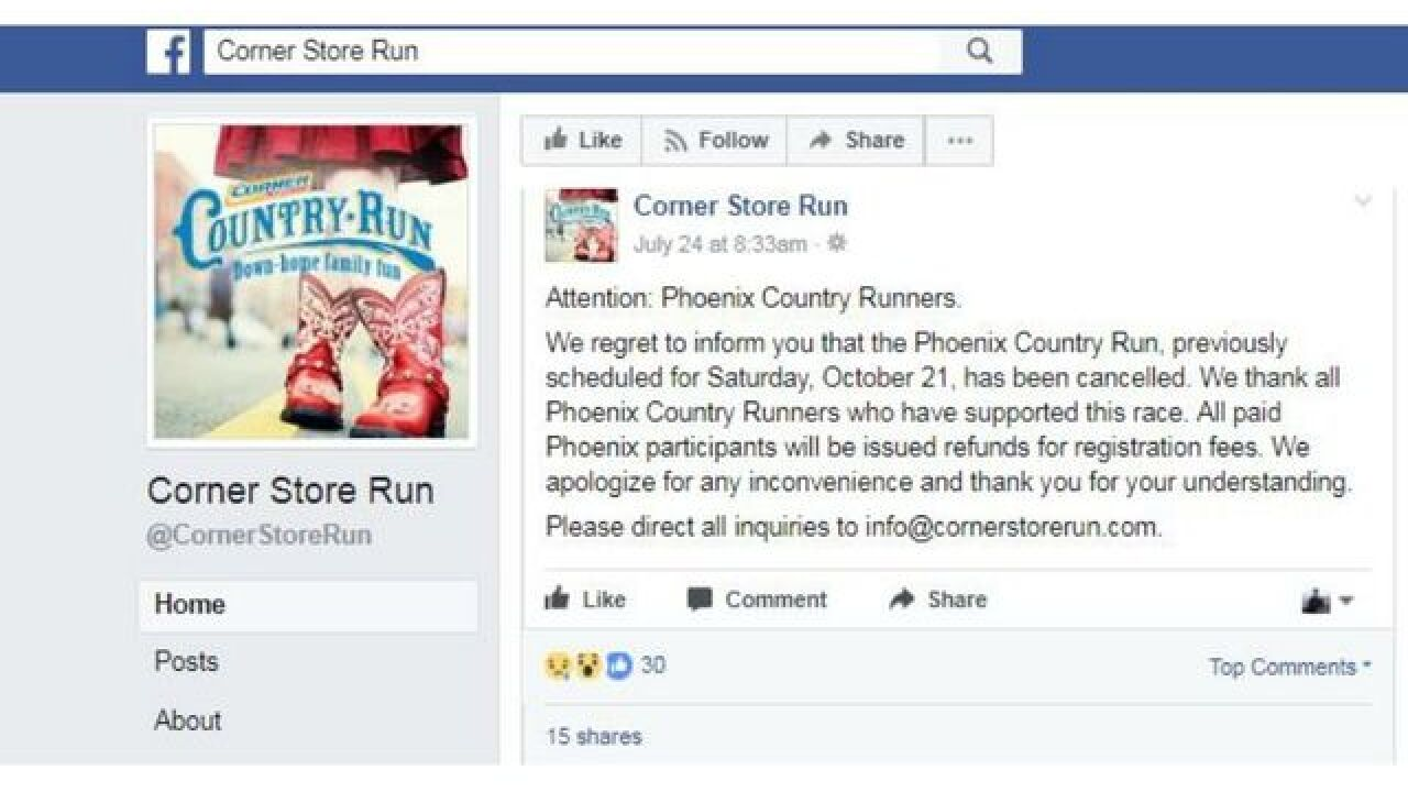 Corner Store Country Run In Phoenix Has Been Canceled