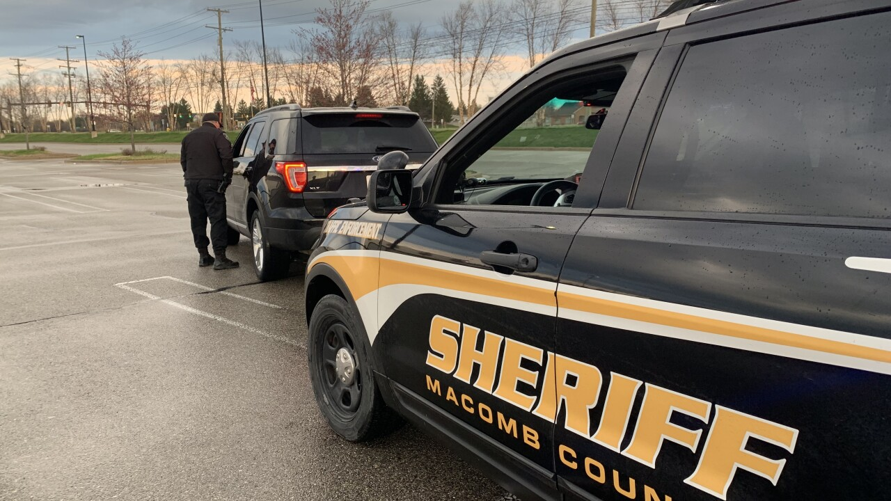 Macomb County Sheriff's Office traffic stop