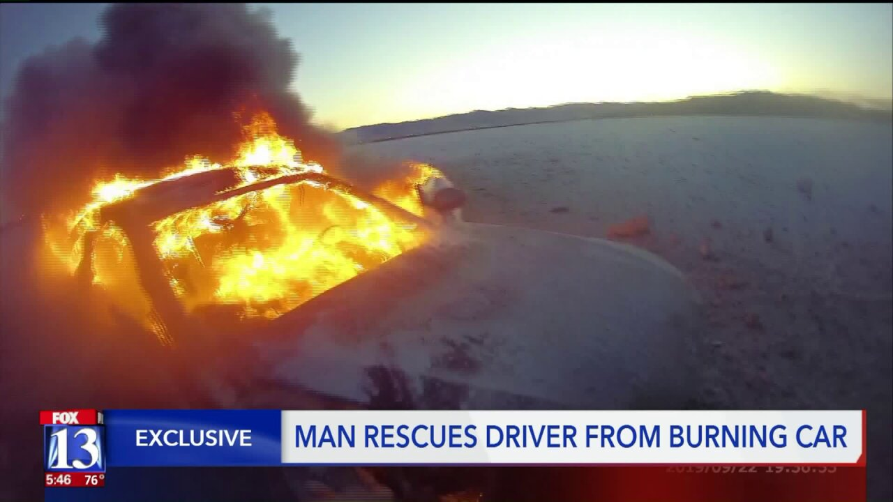Good Samaritan speaks on pulling man from burning car on SaltFlats