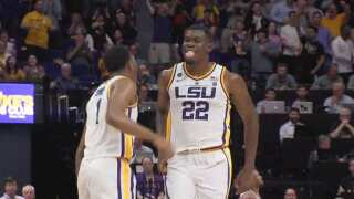 LSU advances with 79-74 victory over Yale