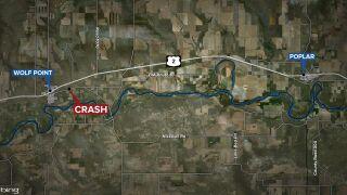 Woman dies in rollover crash near Wolf Point