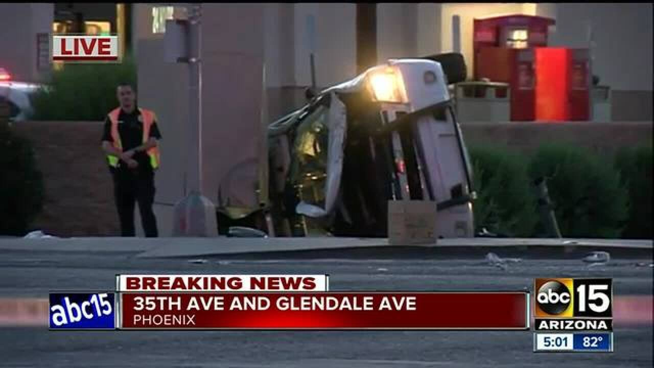 West PHX crash sends two officers to hospital