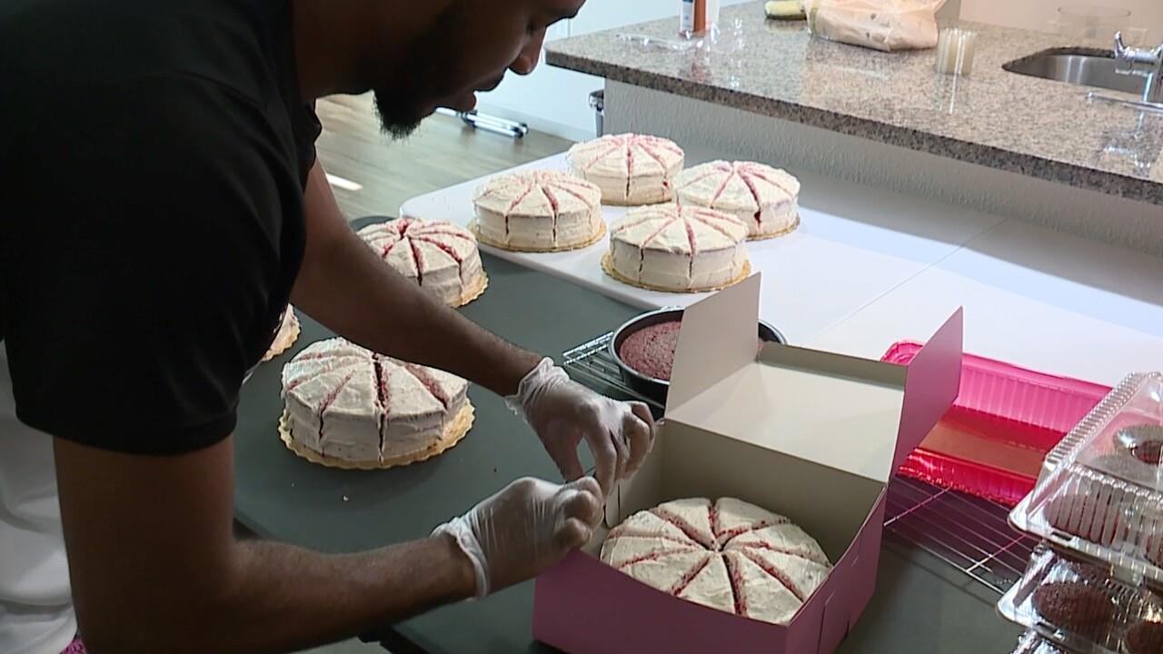 Making Selina's Red Velvet Cake