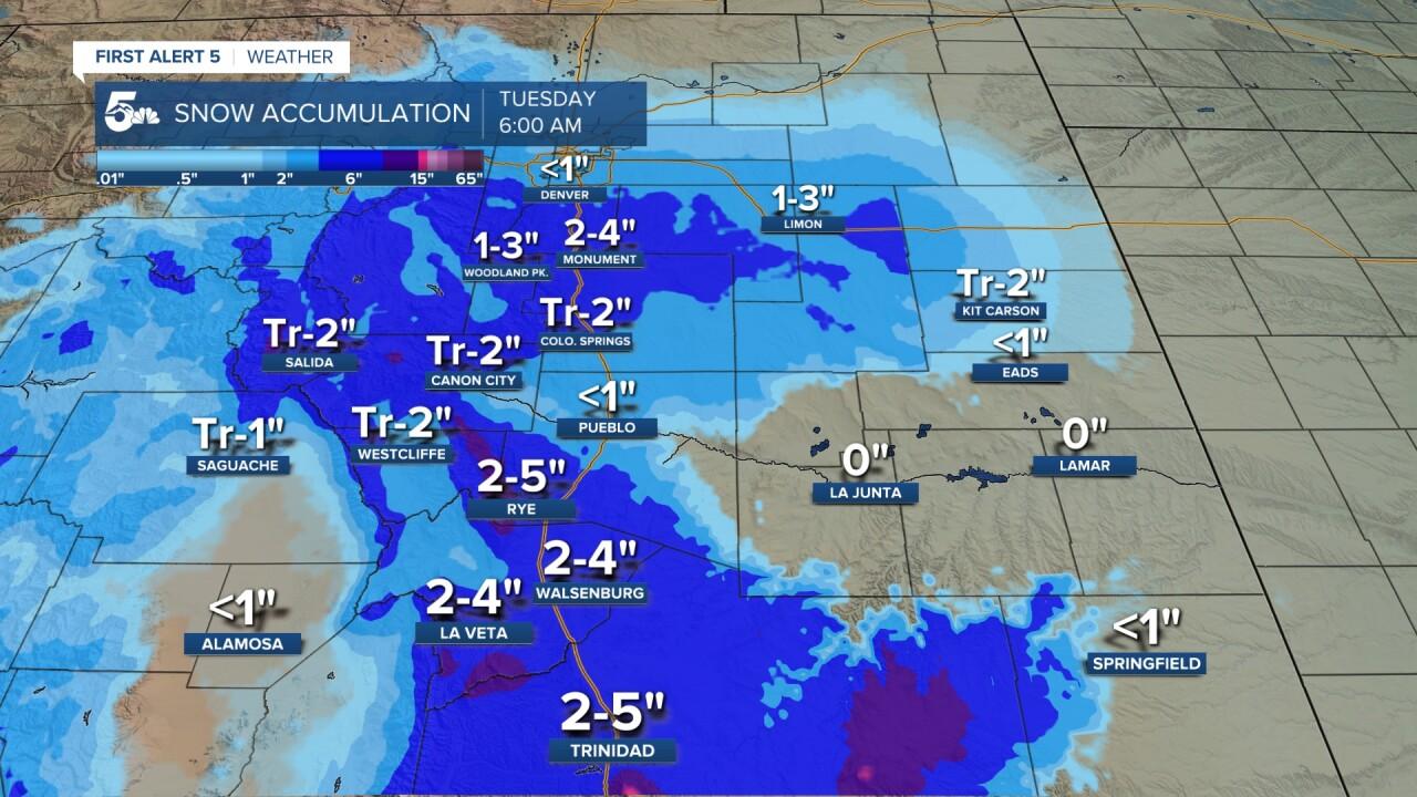 Additional Snow Accumulation