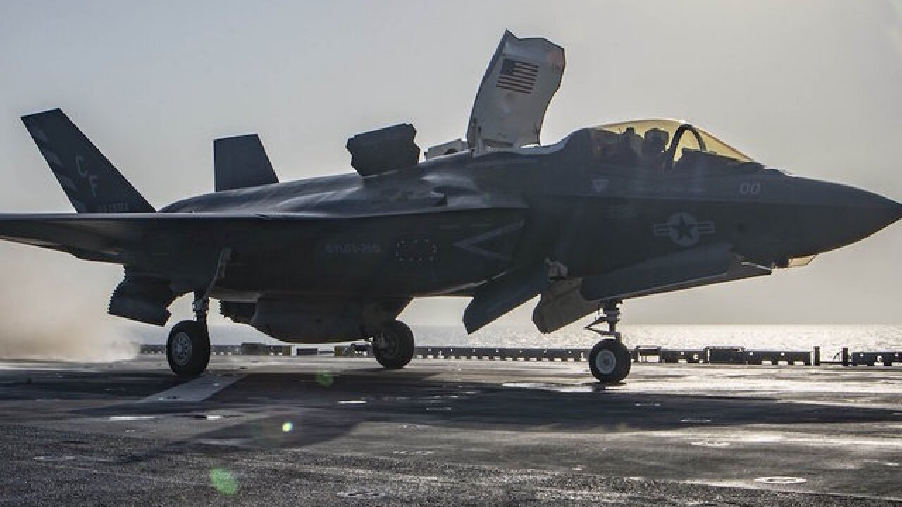 US Marine Corps F-35B jet crashes in South Carolina
