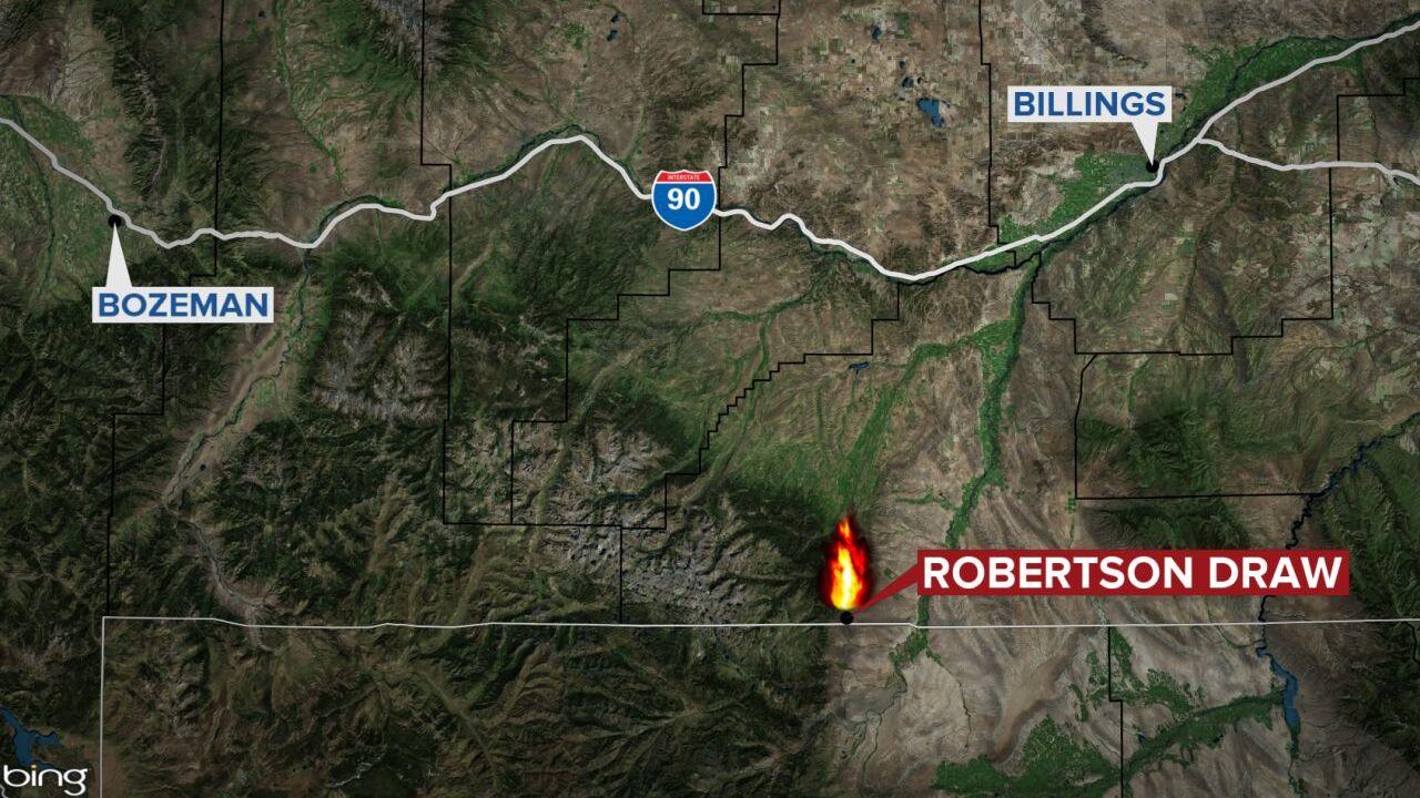 Robertson Draw Fire map