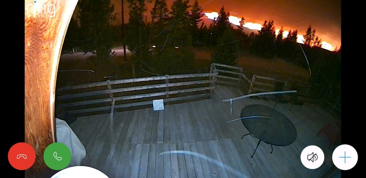 Jodie and Kern nest camera as East Troublesome Fire approaches