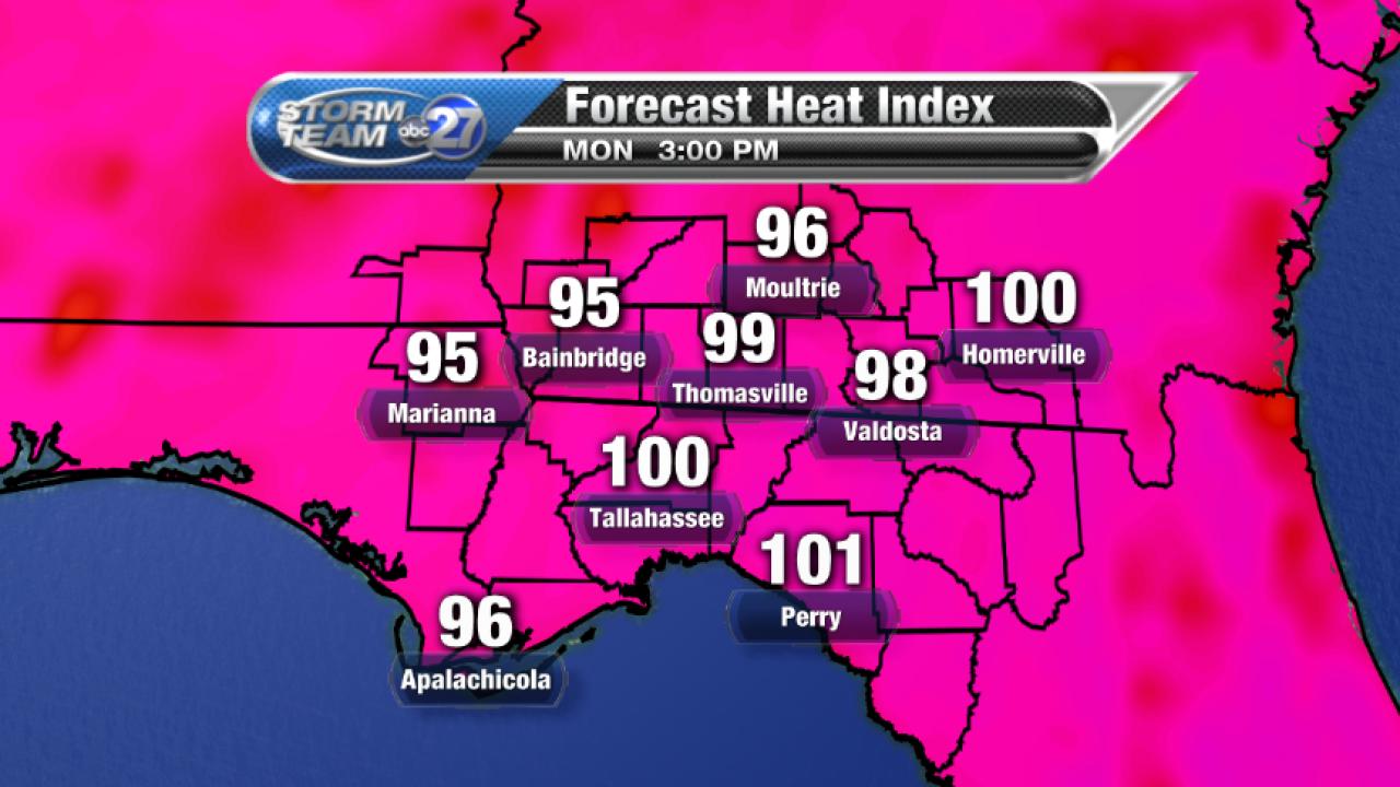 Forecast Heat Index (08/07/2017)