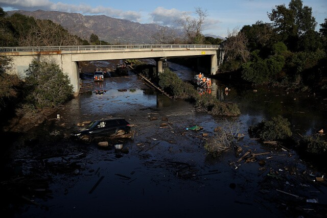Photos show mudslide damage in Montecito