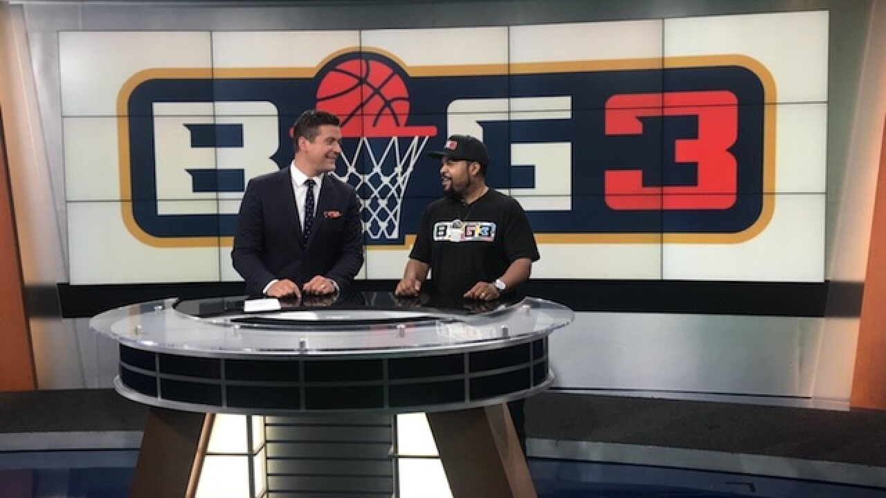 Ice Cube crashes WXYZ sportscast to talk Big3