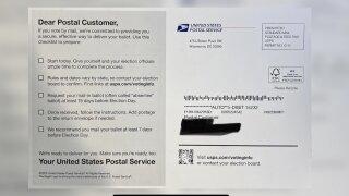 USPS voting mailer