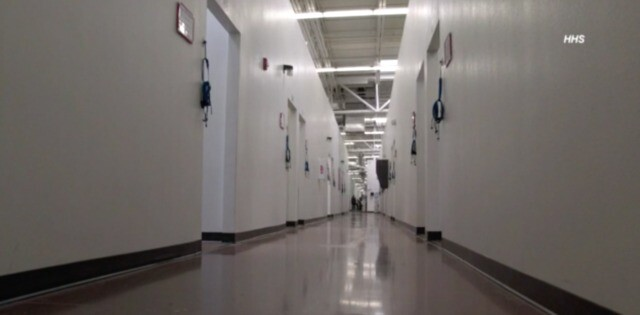 Inside the Casa Padre migrant children facility in Brownsville, Texas