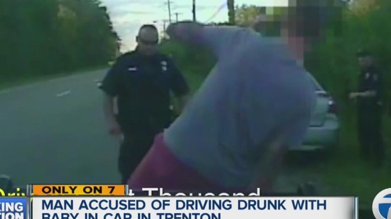 Alleged Super Drunk man had baby in car