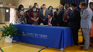 Gov. DeSantis not ready to move on to next phase in reopening Florida, working to open testing site at Tropicana Field
