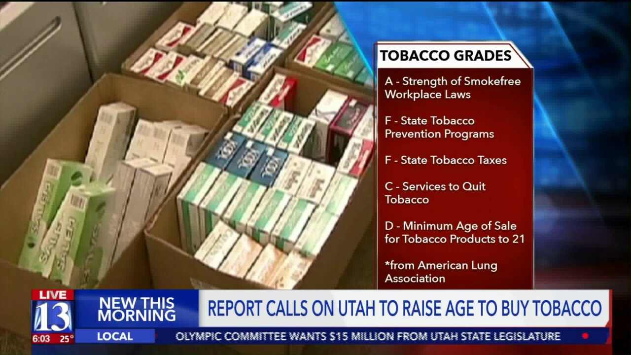 American Lung Association calls on Utah to raise minimum tobacco purchasing age to21