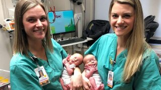 Identical twin nurses help deliver twins at Georgia hospital