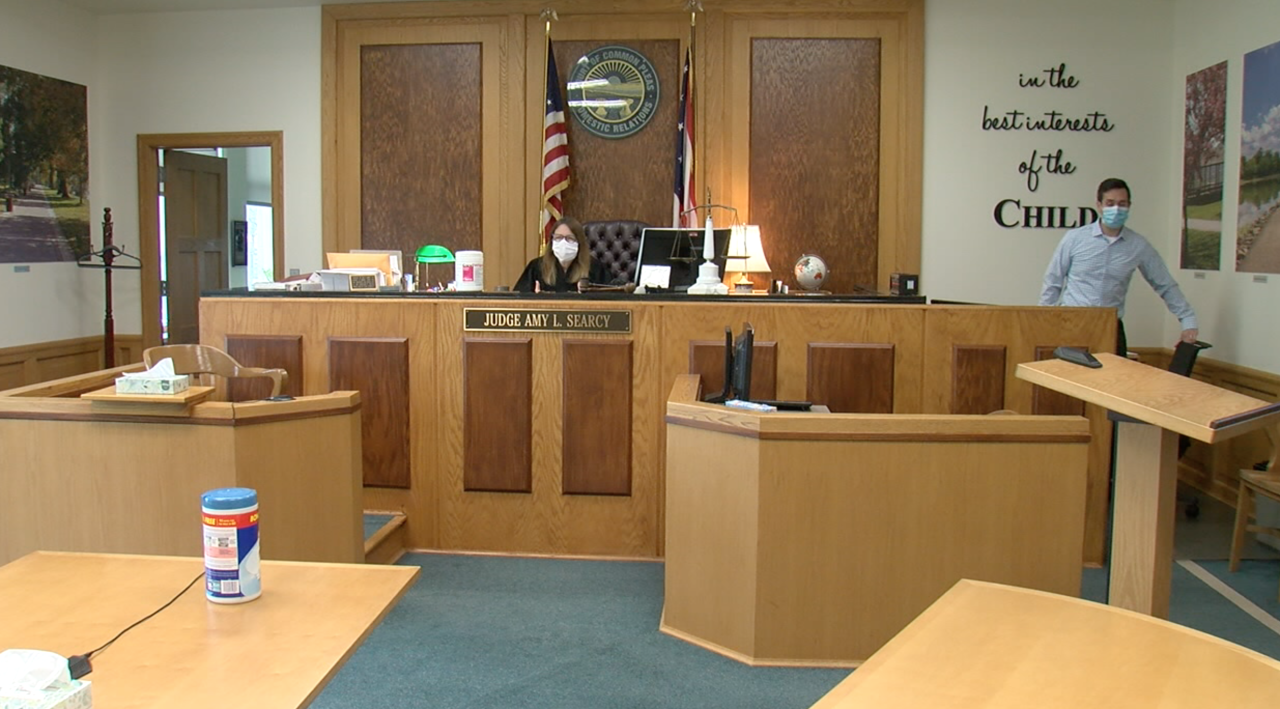 Judge Amy Searcy's courtroom