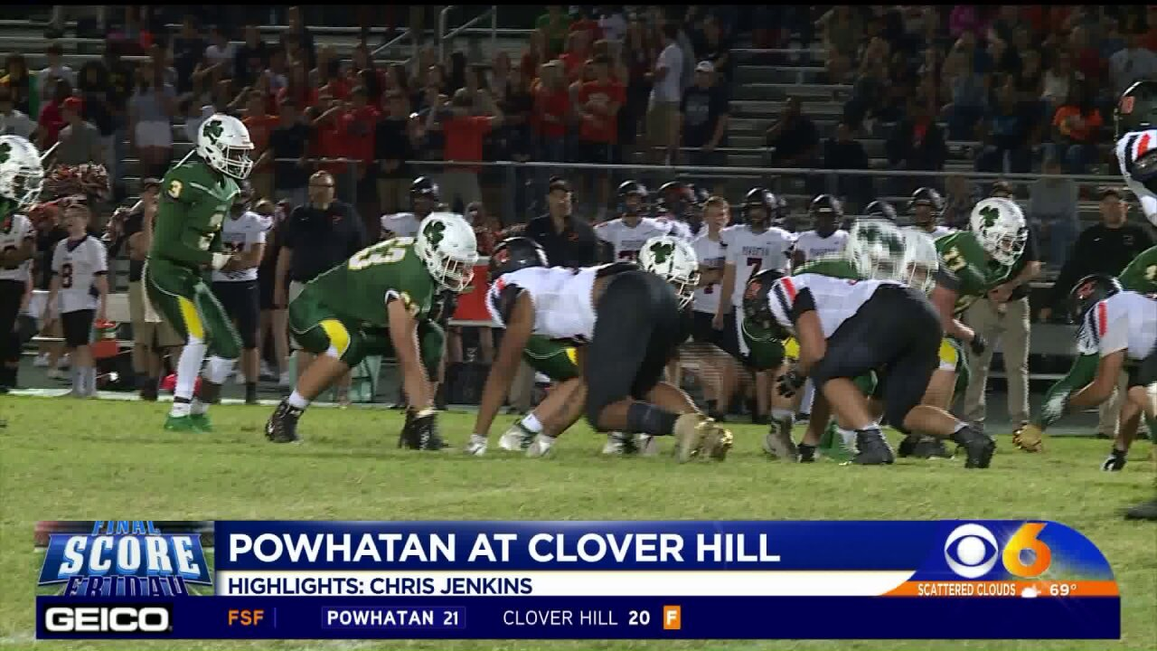Powhatan gets come-from-behind 21-20 win over CloverHill