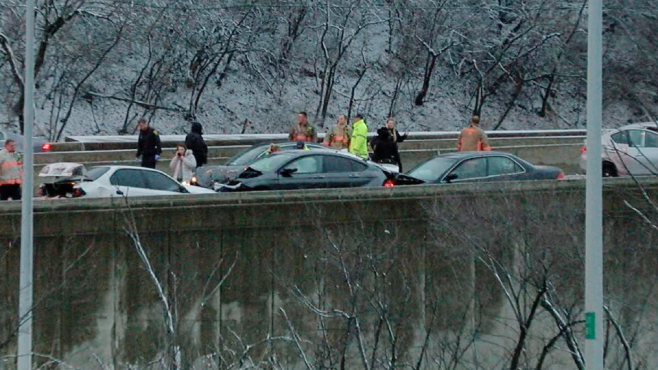 Interstate 71 reopens after pileup of 15 to 20 vehicles between