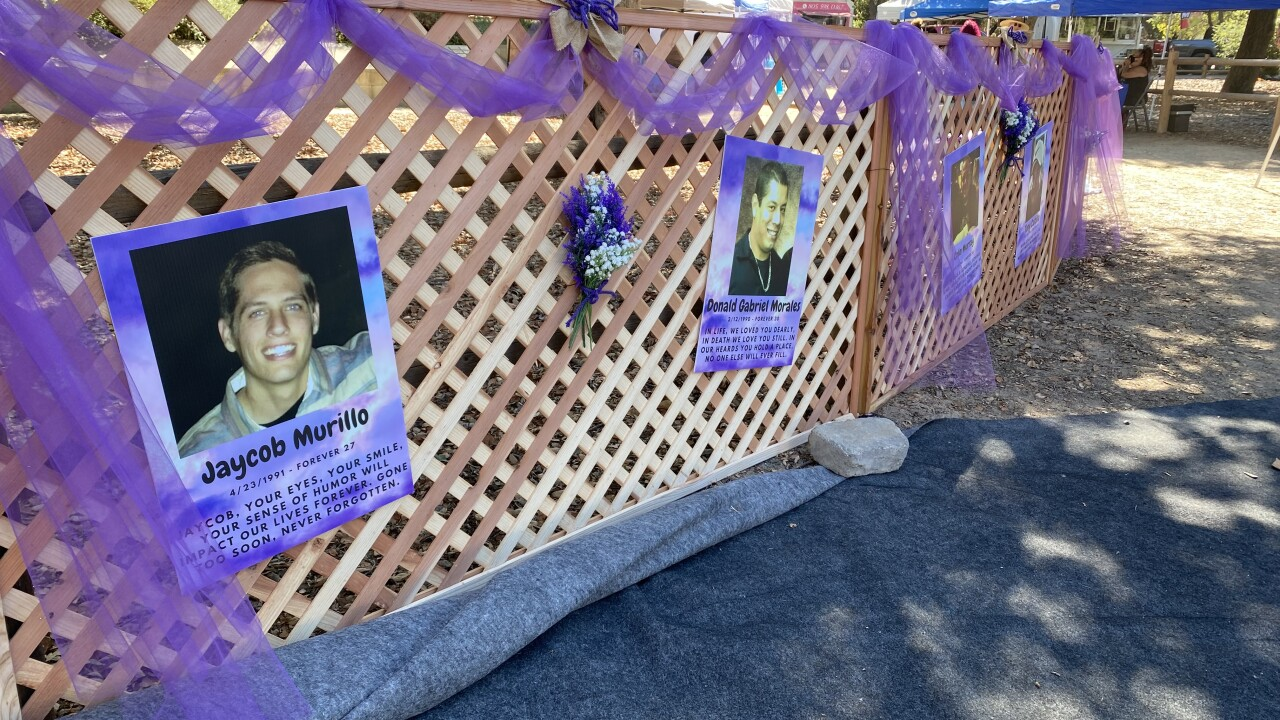 The Memory Wall for the Let's Make a Difference Overdose Awareness event