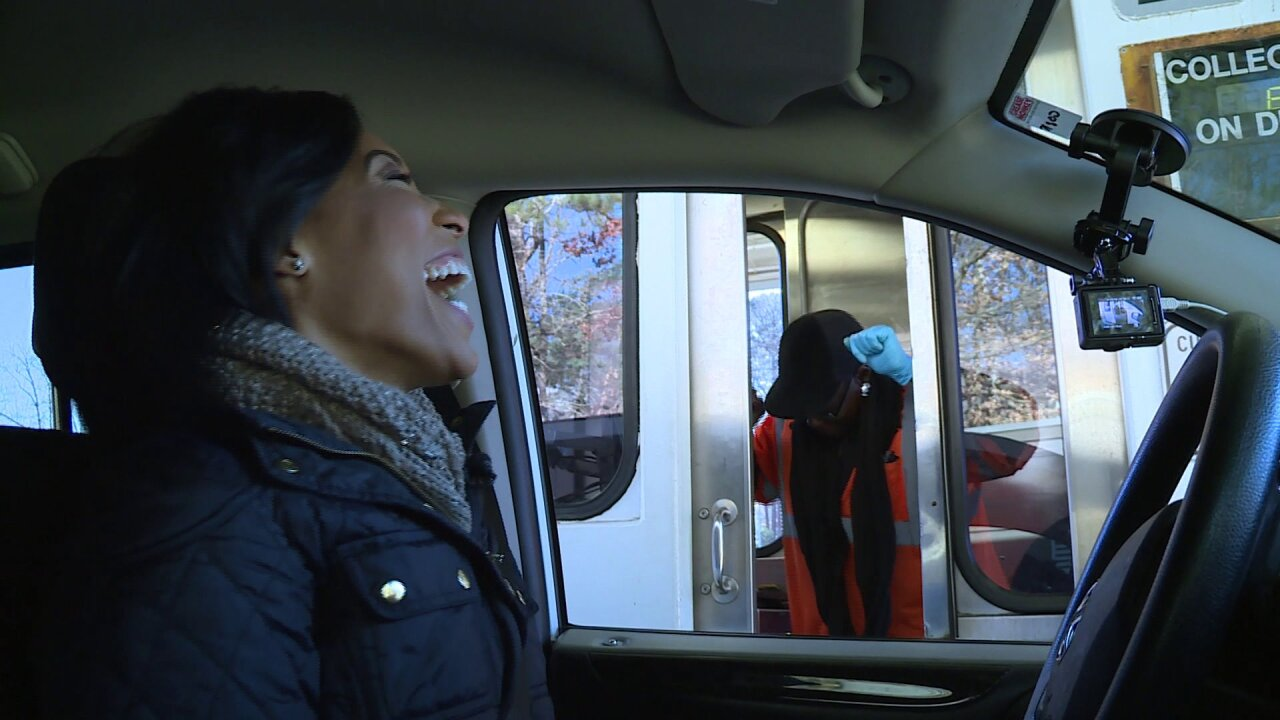 Candace's kindness moves toll workers to dance, cry tears ofjoy
