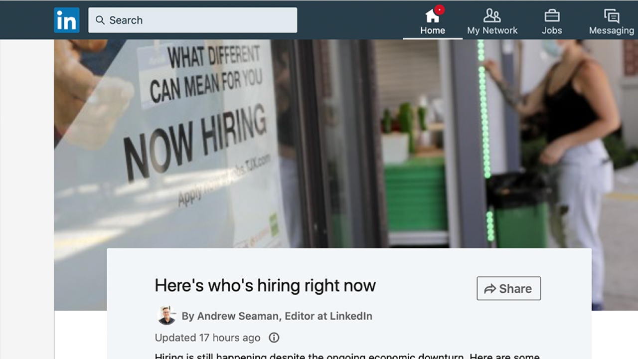 LinkedIn career expert talks hot jobs, how to land one