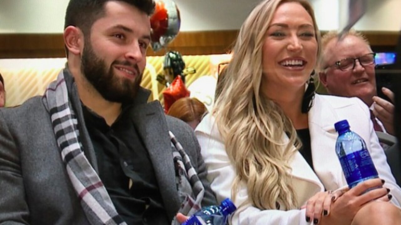 Baker Mayfield, Cleveland quarterback, helps charity raise $110K in 10 minutes