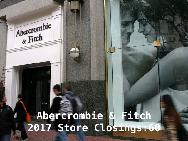 18 major retailers closing stores in 2017