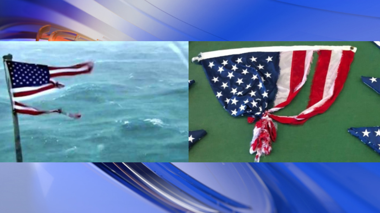 American flag that survived Hurricane Florence's winds is up for auction