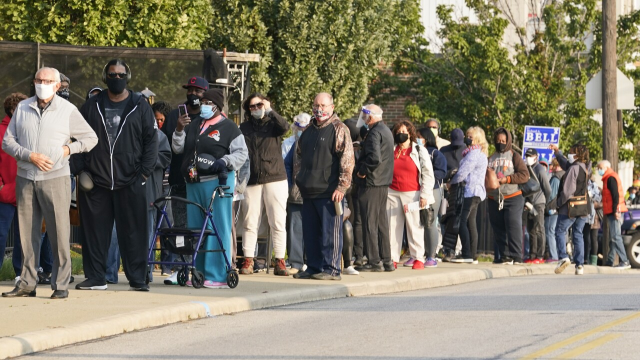 More than 4.5 million ballots already cast; long lines as more states open early voting