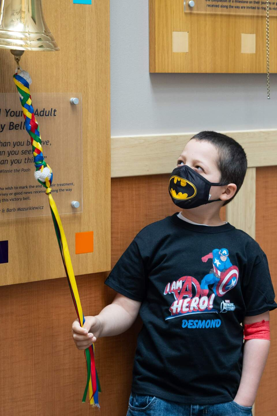 Desmond rang the bell at Roswell Park on April 13