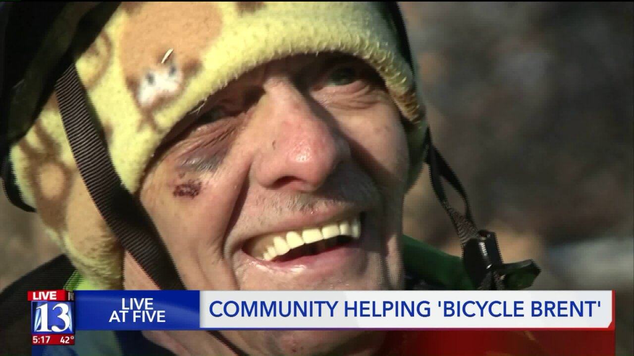 'Bicycle Brent,' impacts thousands of Utah residents from his bike, community raises him over $28,000