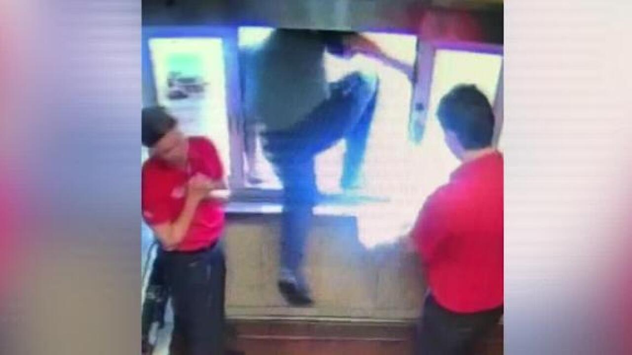 A Chick-fil-A manager leaped through a drive-thru window to save a choking 6-year-old