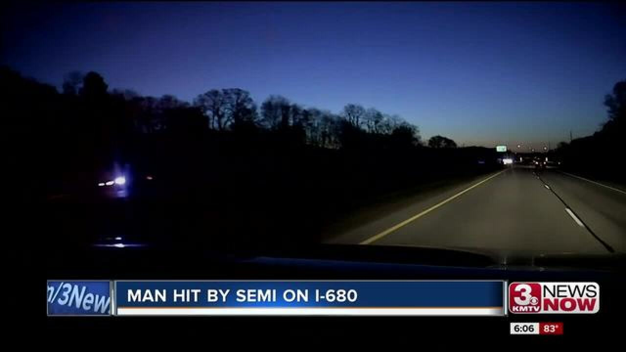 Part of I-680 closed Monday morning