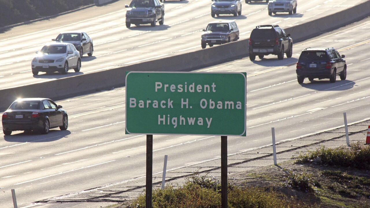 Obama Highway Associated Press