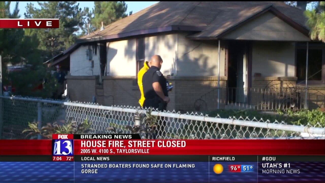 Taylorsville home damaged in fire