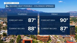 Record heat possible for Colorado Springs
